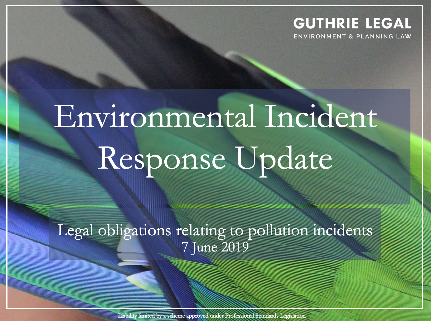 Environmental Incident Response - Guthrie Legal