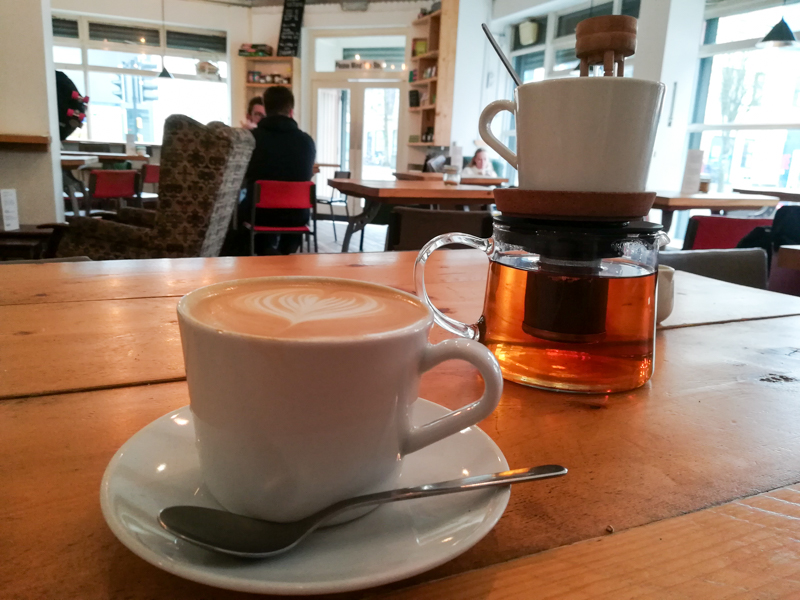Flat white in Little Man Coffee, Cardiff
