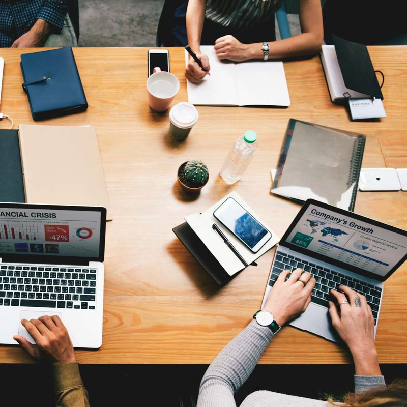 Small team working for a limited company