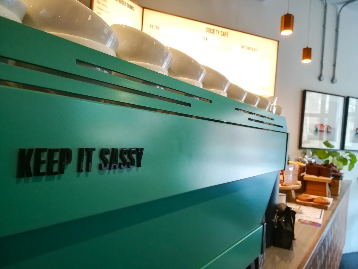 Coffee machine at Society Café, Oxford