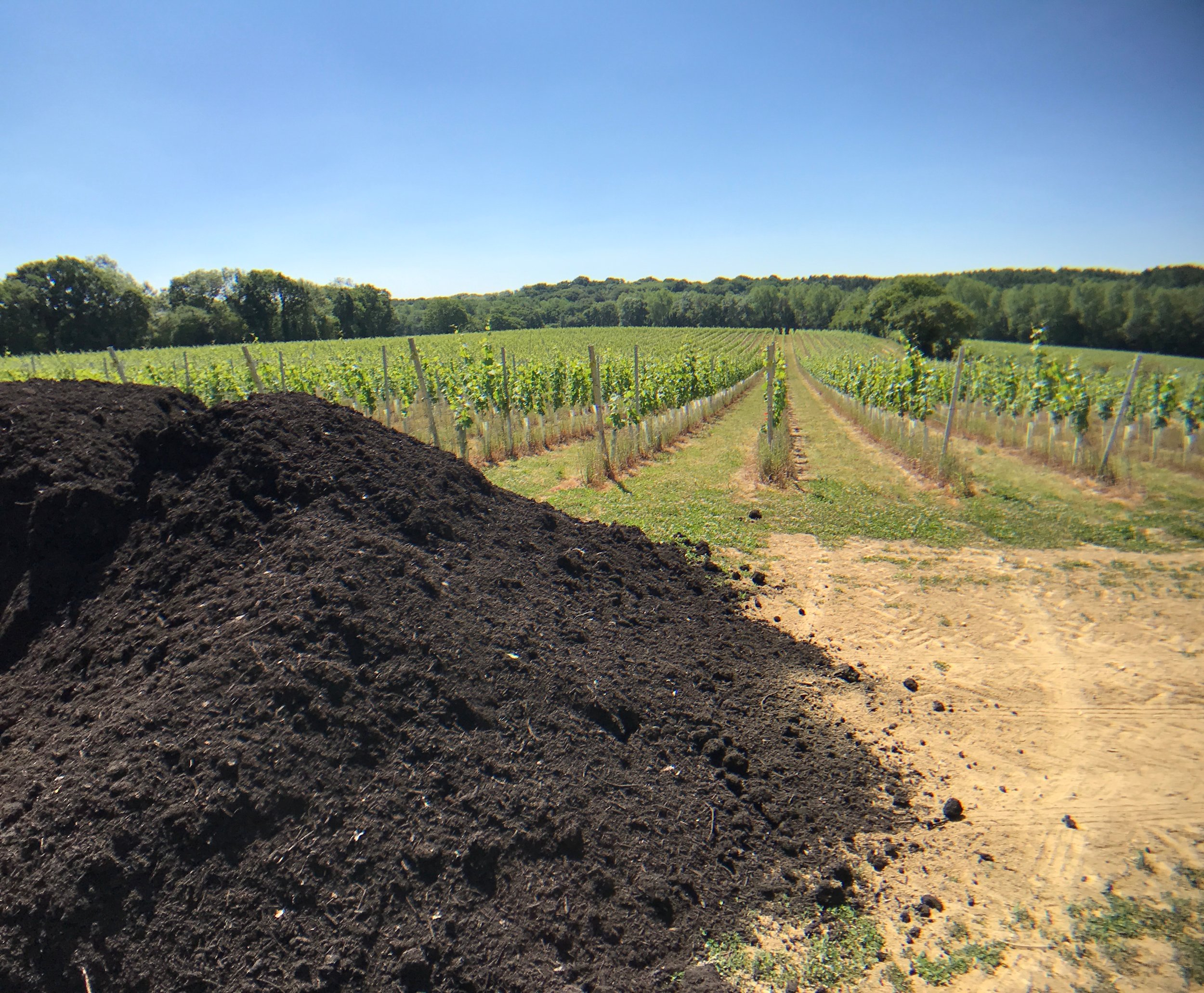 Our PAS 100 compost ready for spreading.