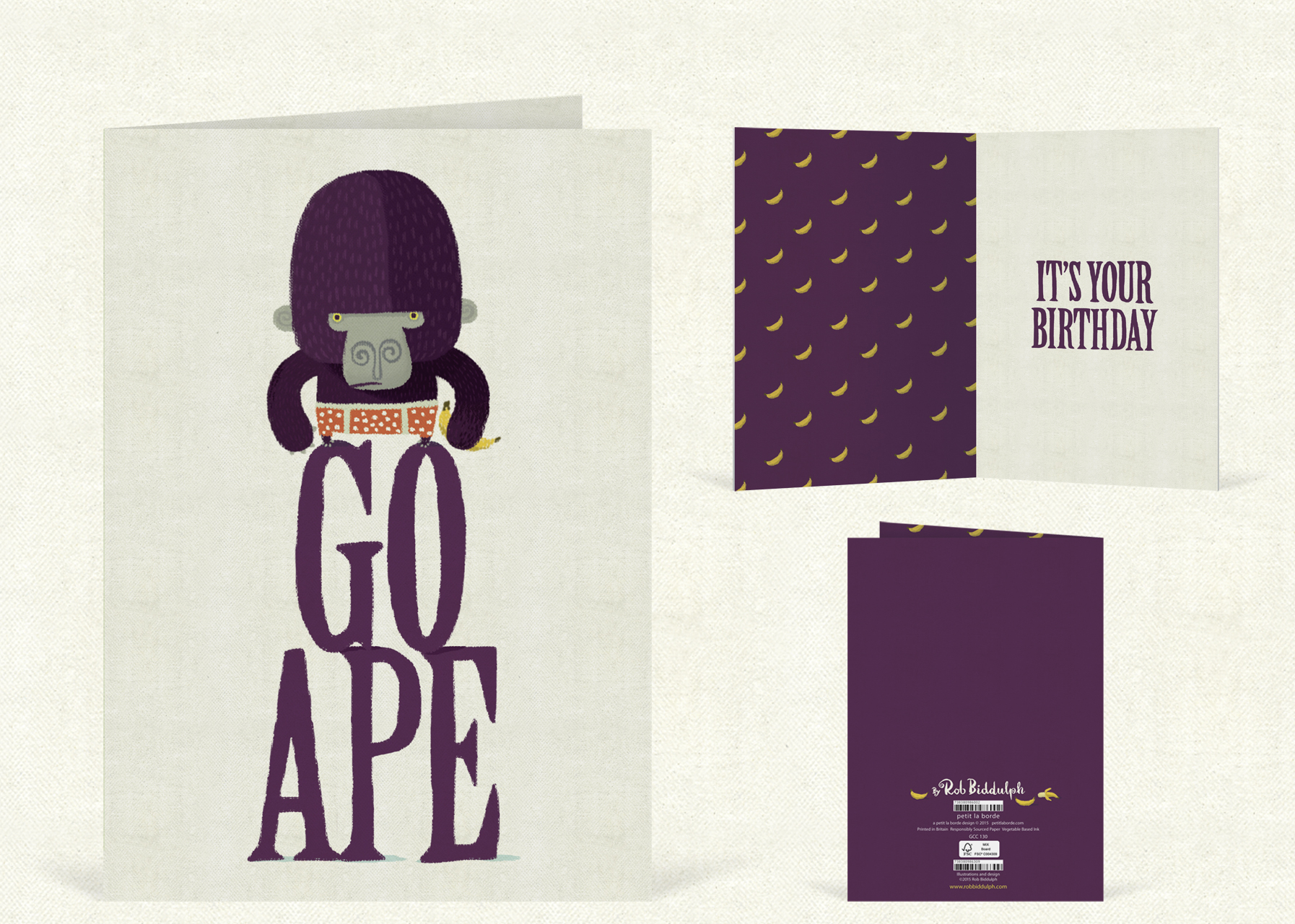 Go Ape  (120mm x 170mm).   Click   here   to buy.