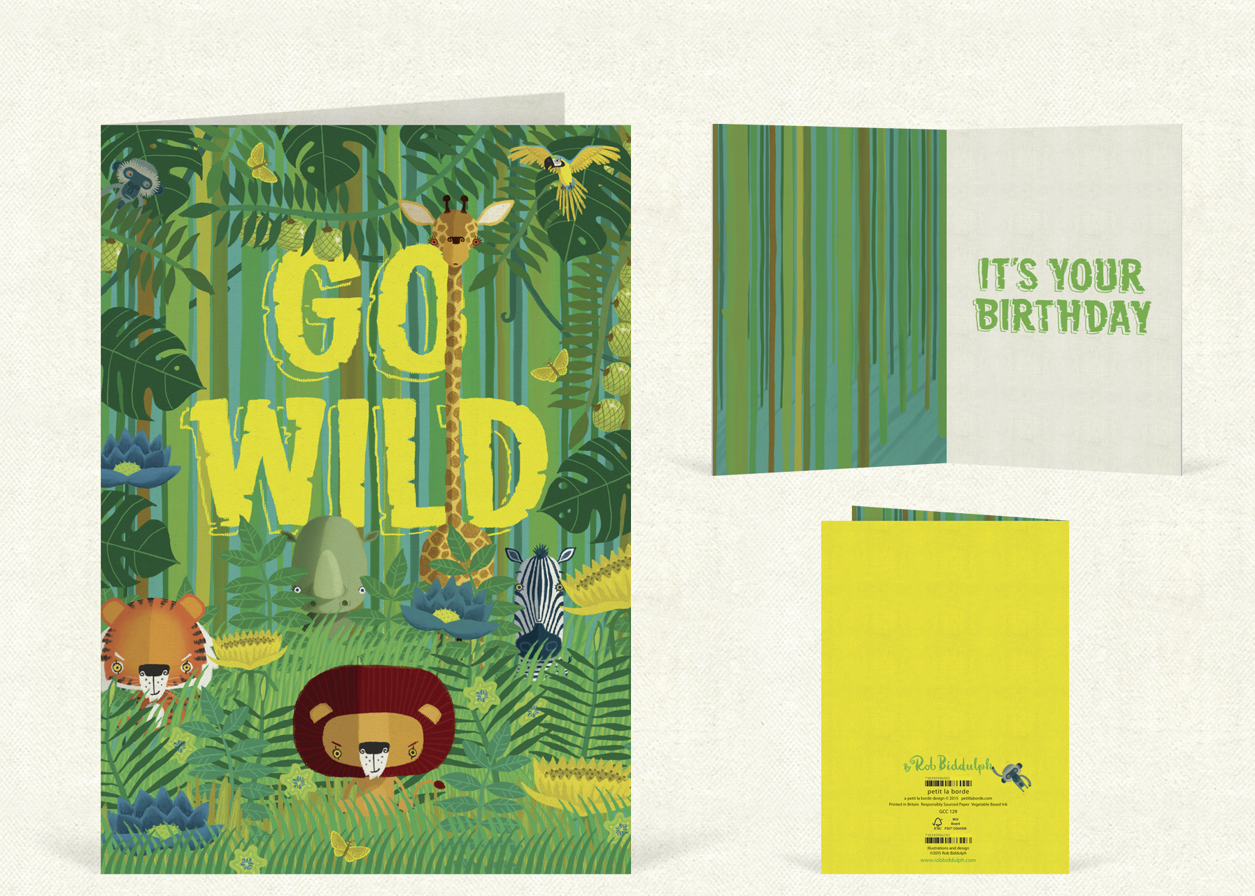 Go Wild  (120mm x 170mm).   Click   here   to buy.