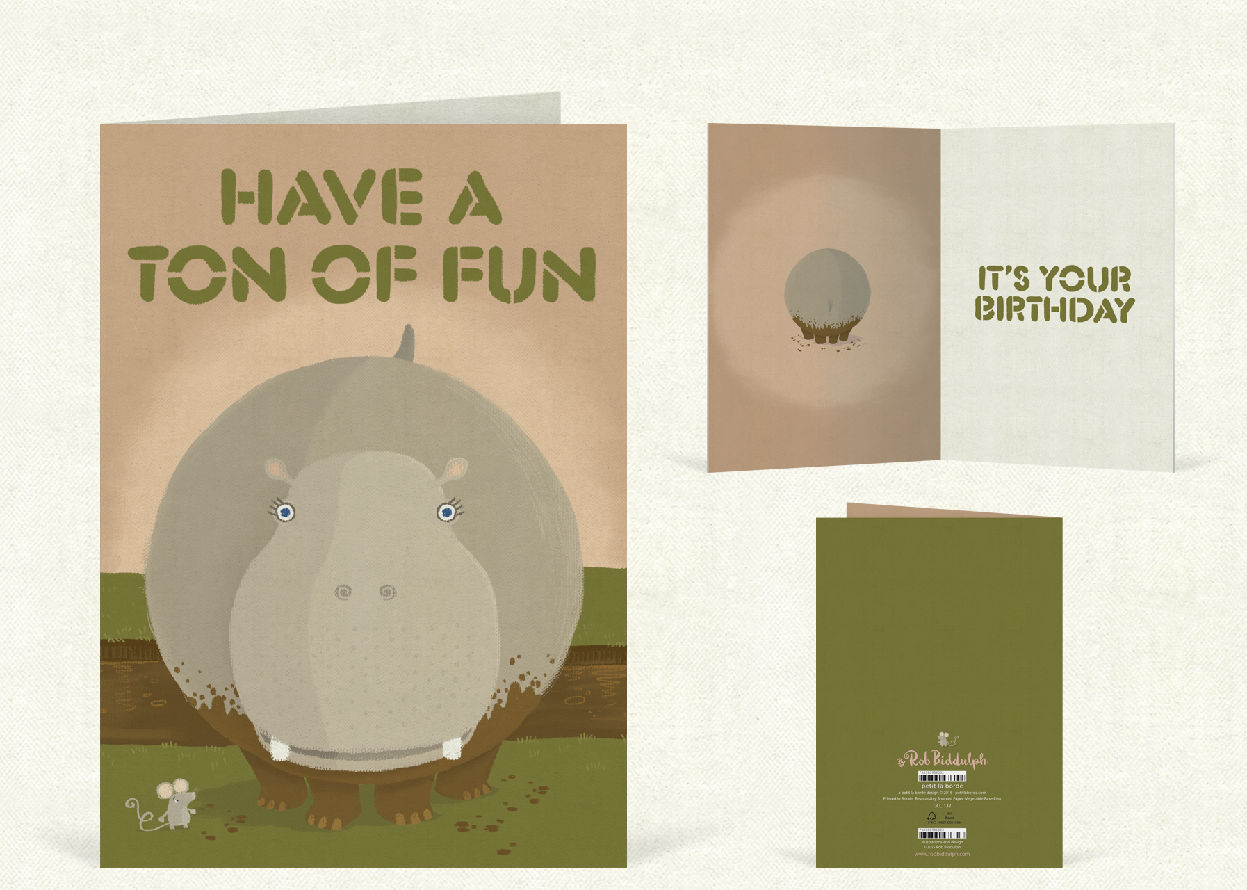 Have a Ton of Fun  (120mm x 170mm).   Click   here   to buy.
