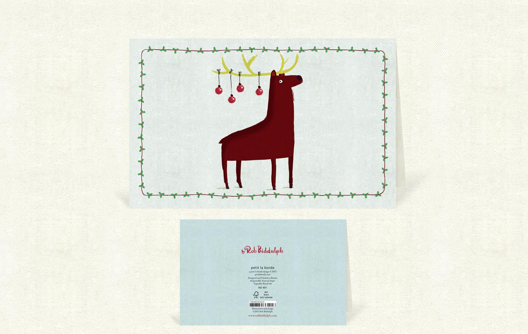 Reindeer Baubles Wide  (140mm x 90mm).