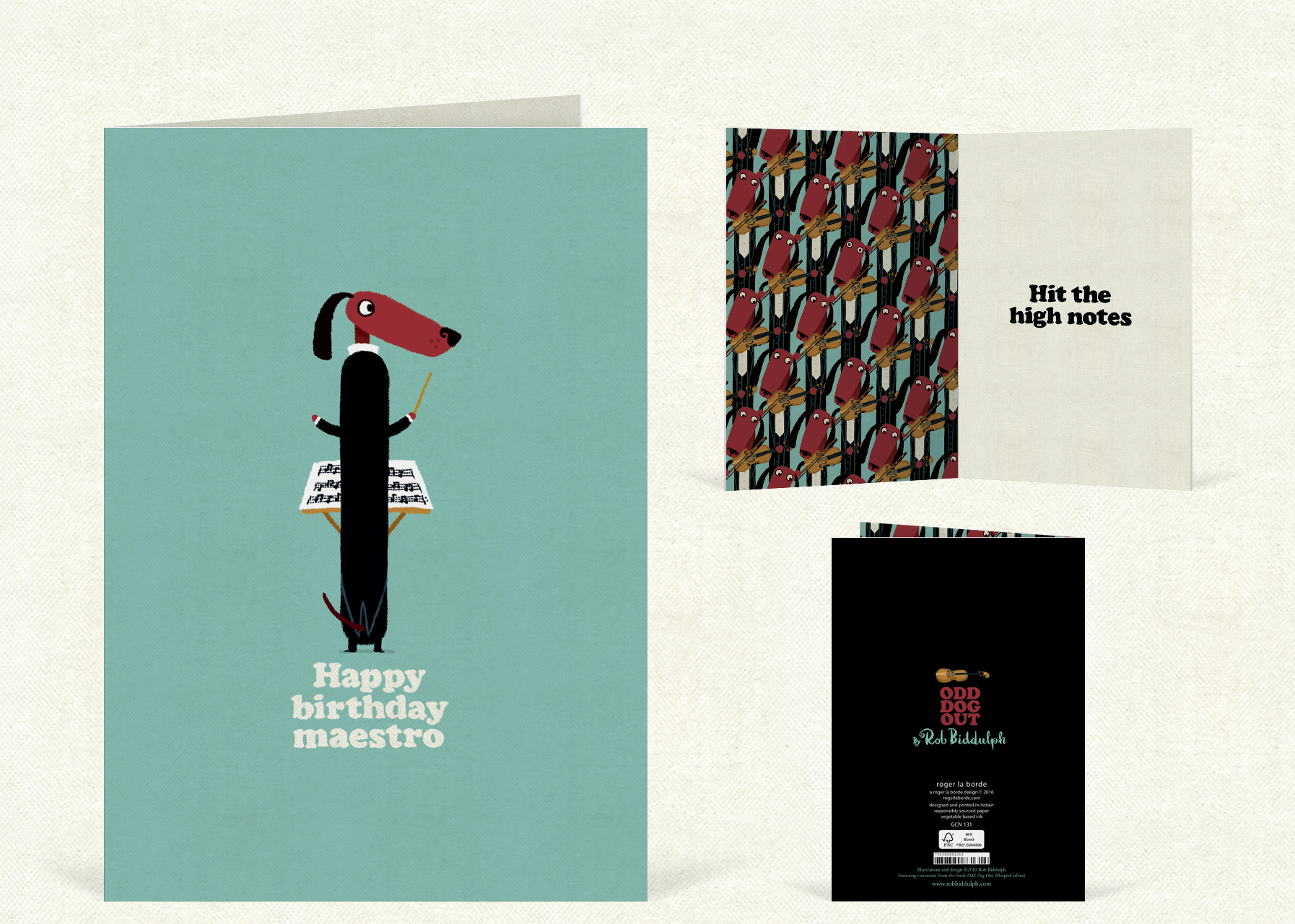Happy Birthday Maestro   (97mm x 147  mm). Click   here  to buy.
