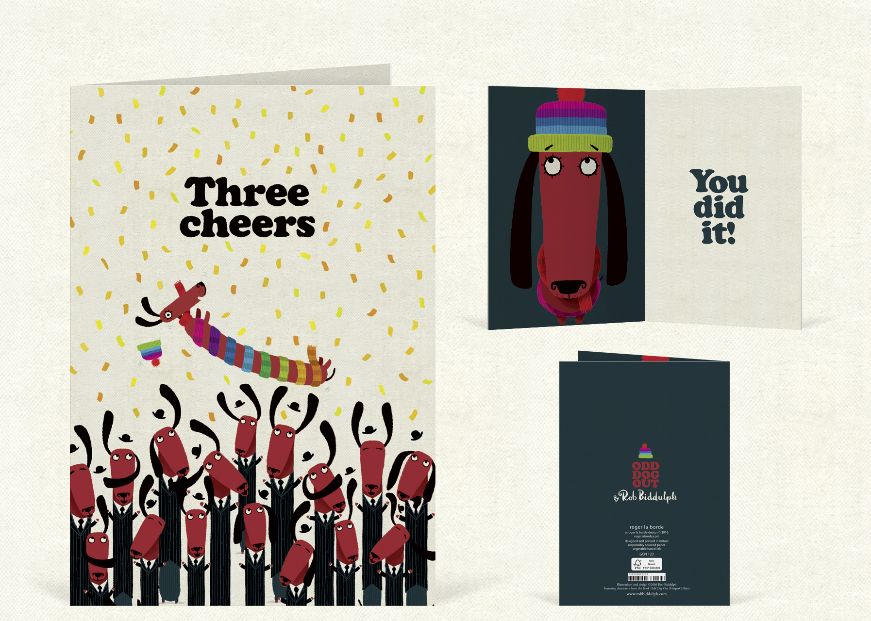 Three Cheers    (97mm x 147  mm).  Click   here  to buy.