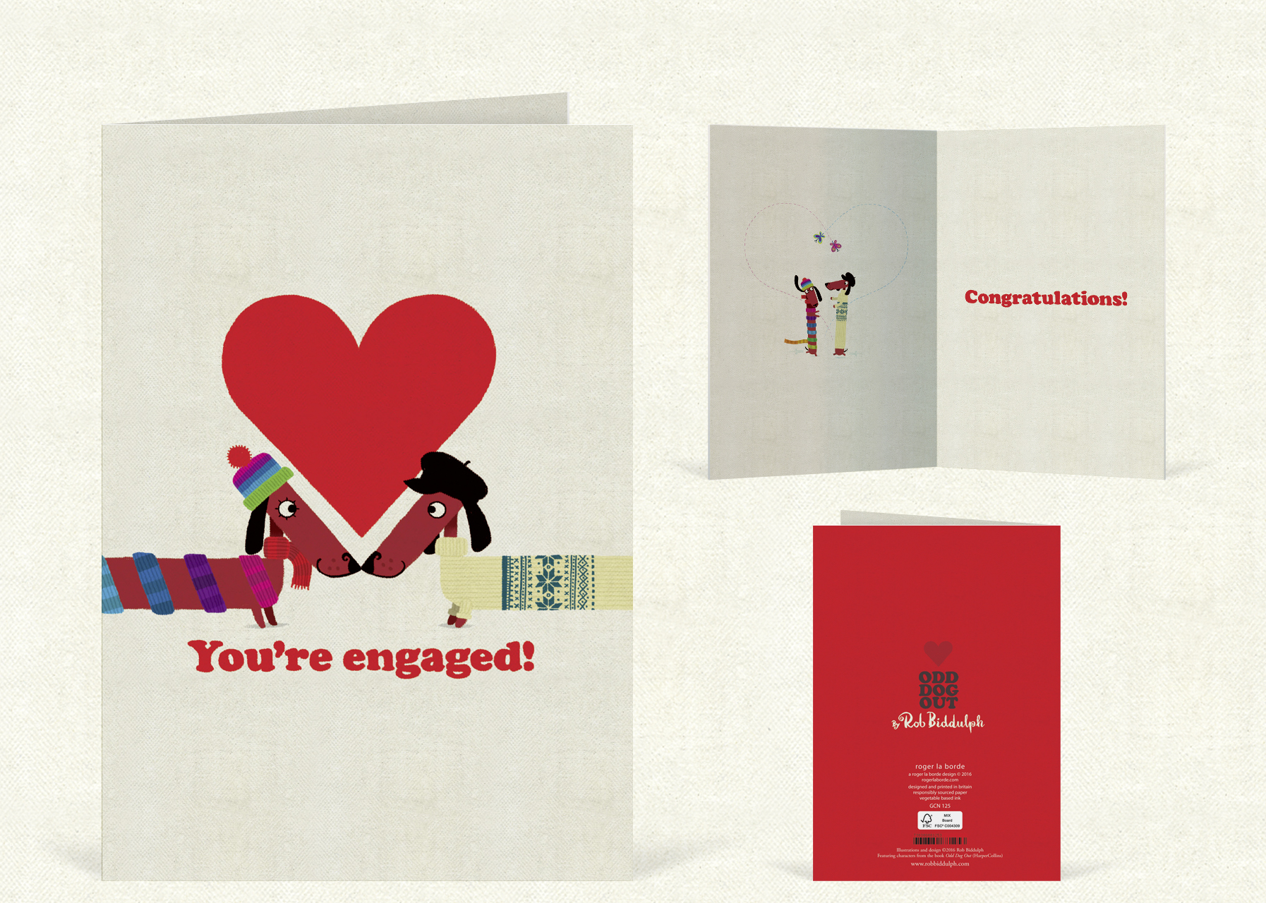 You're Engaged    (97mm x 147  mm).  Click   here  to buy.