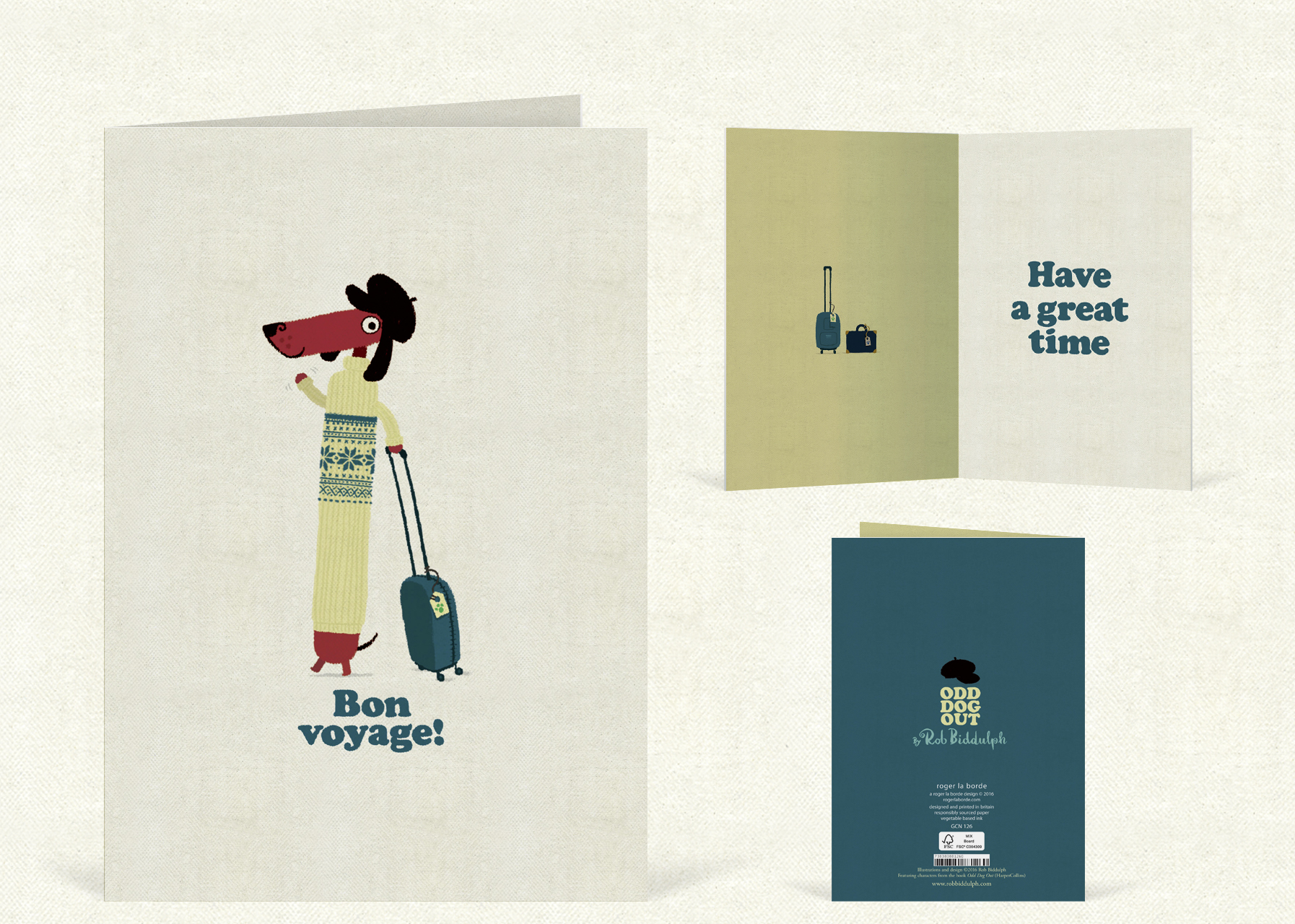 Bon Voyage    (97mm x 147  mm).  Click   here  to buy.
