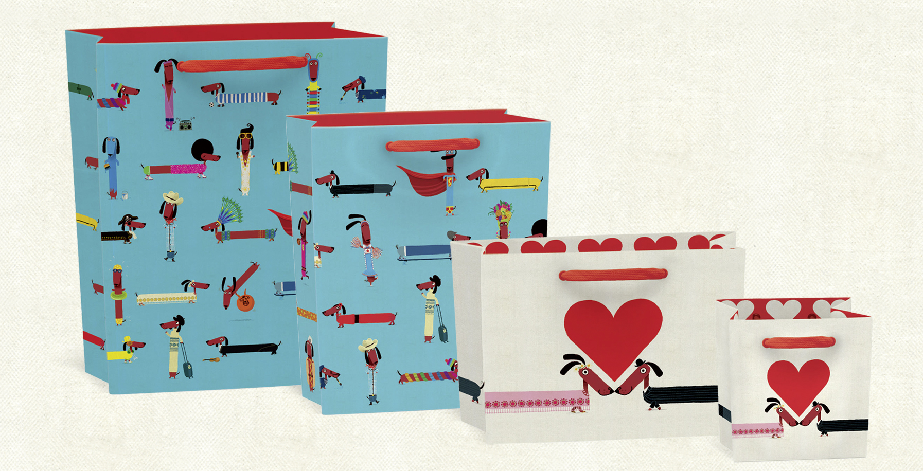 Odd Dog Out  gift bags. Click  here to buy.