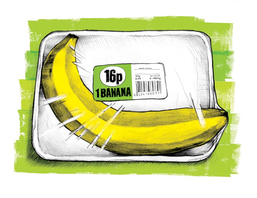 Over-packaged Banana