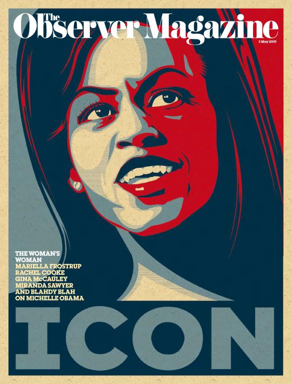 Michelle Obama illustrated cover
