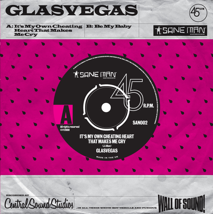 """Glasvegas """"It's My Own Cheating Heart That Makes Me Cry"""" sleeve"""