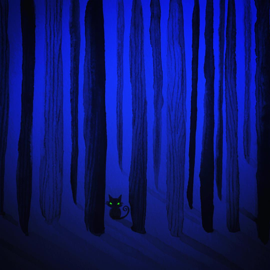 The deep dark wood. With a cat in it.