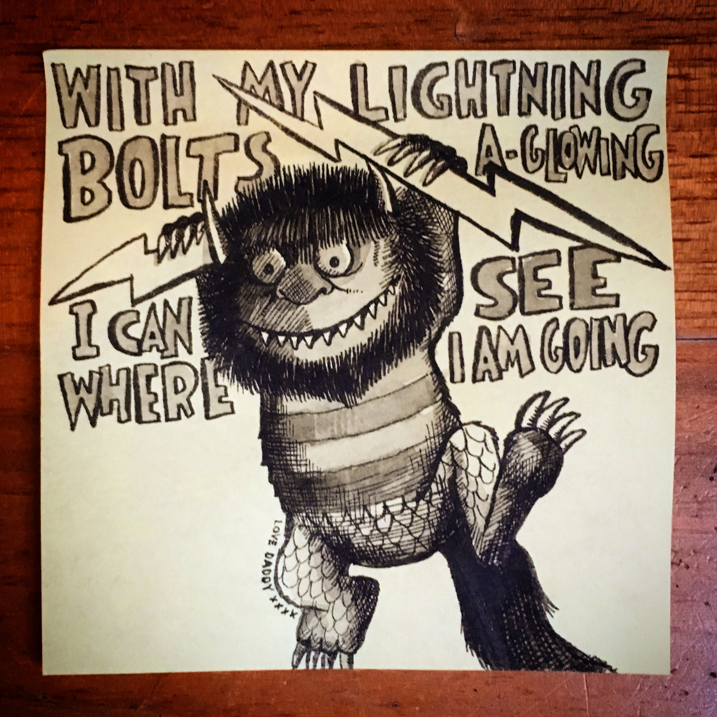 A Wild Thing (from the book by Maurice Sendak)