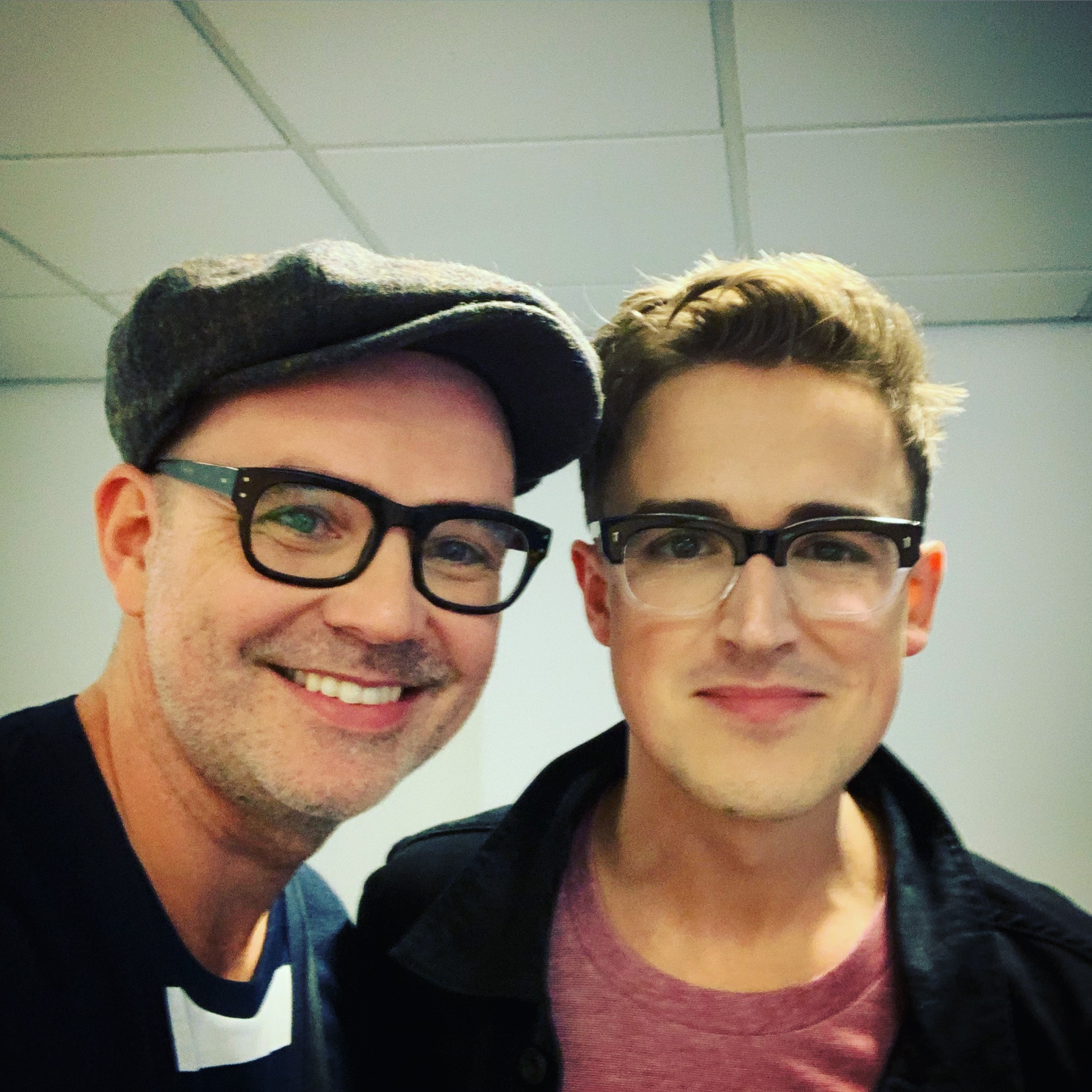 With Tom Fletcher at our World Book Day event