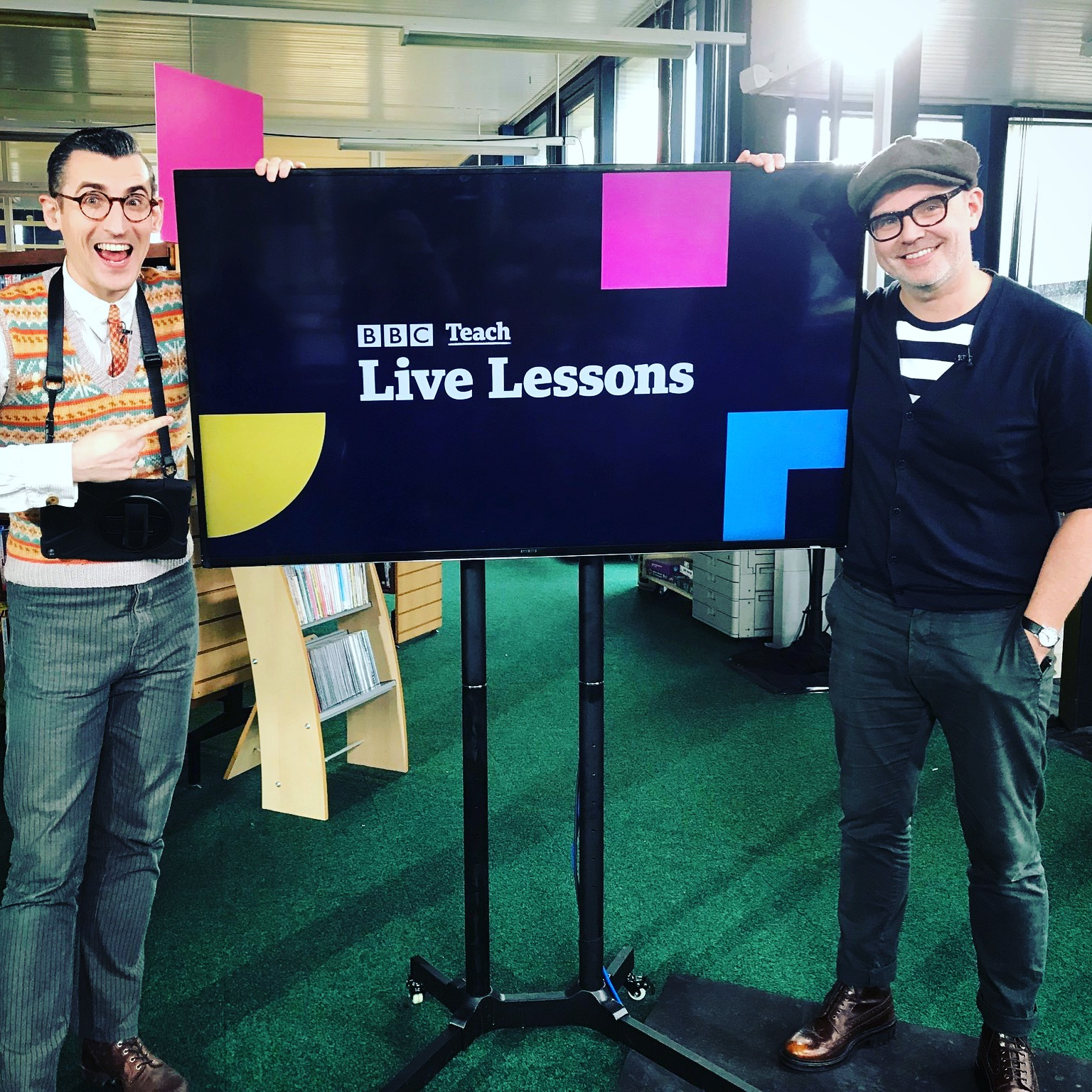 With Ben Shires ahead of our BBC Live Lessons broadcast