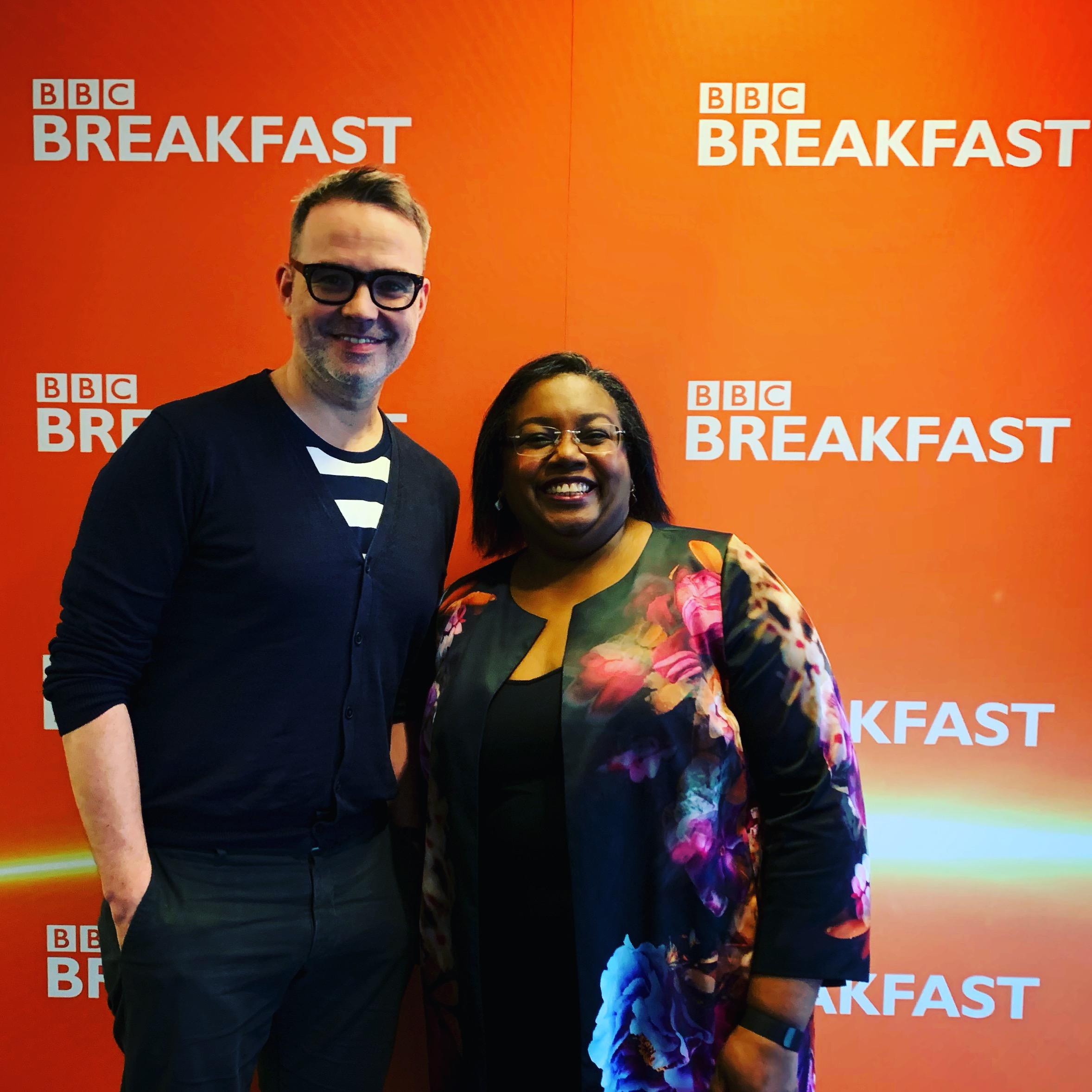 With Malorie Blackman ahead of our appearance on BBC Breakfast.