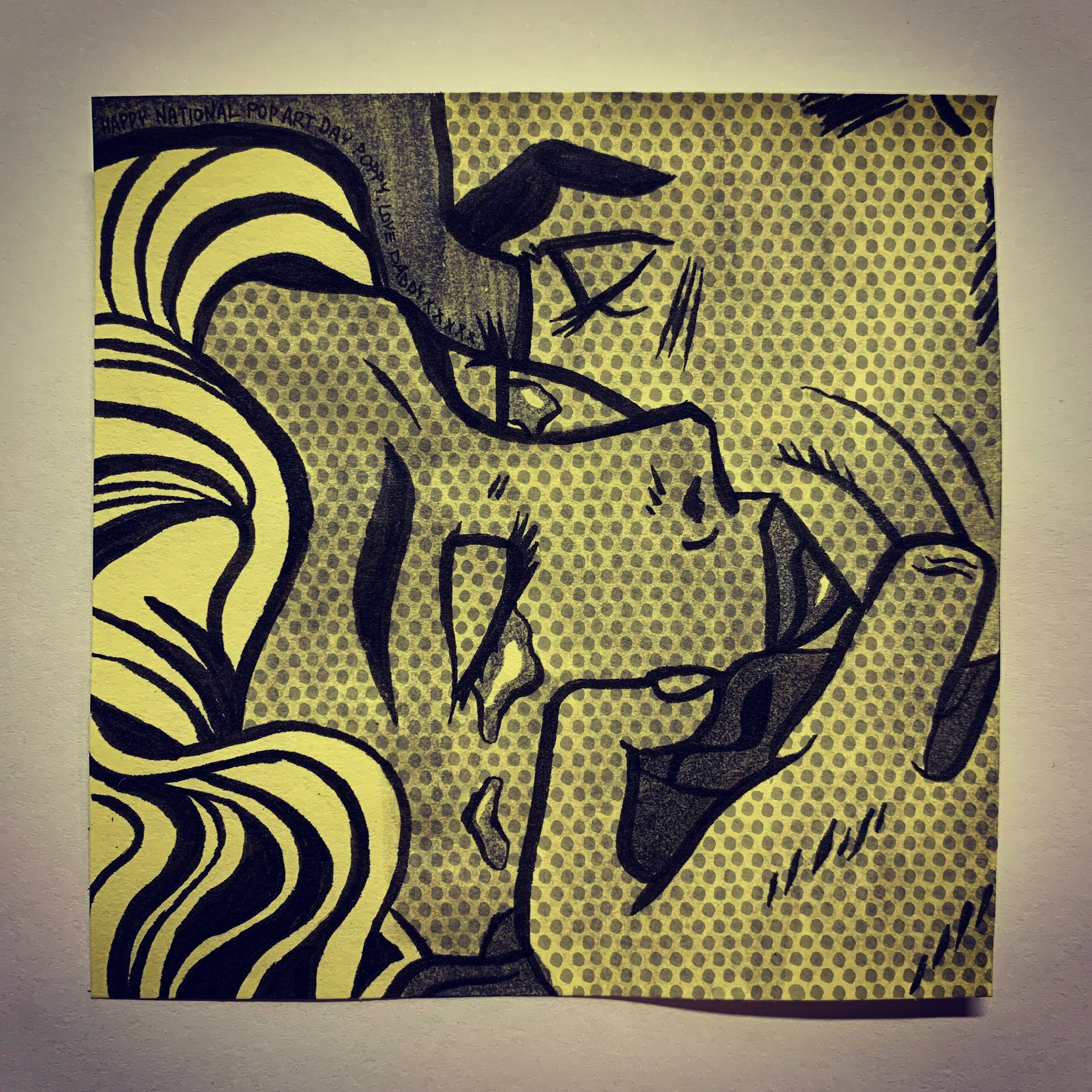 """Kiss V"" by Roy Lichtenstein"