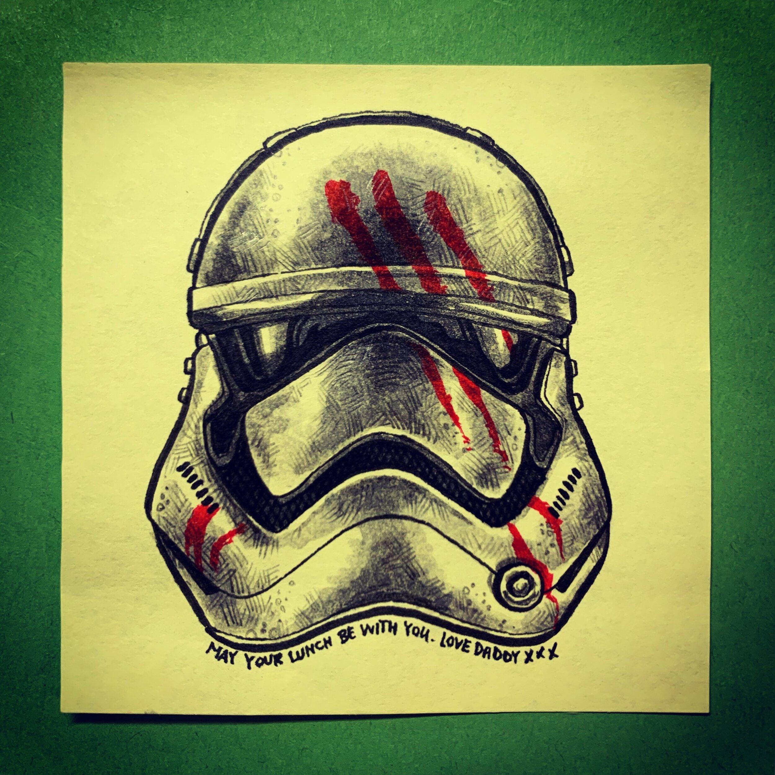 Finn's stormtrooper helmet
