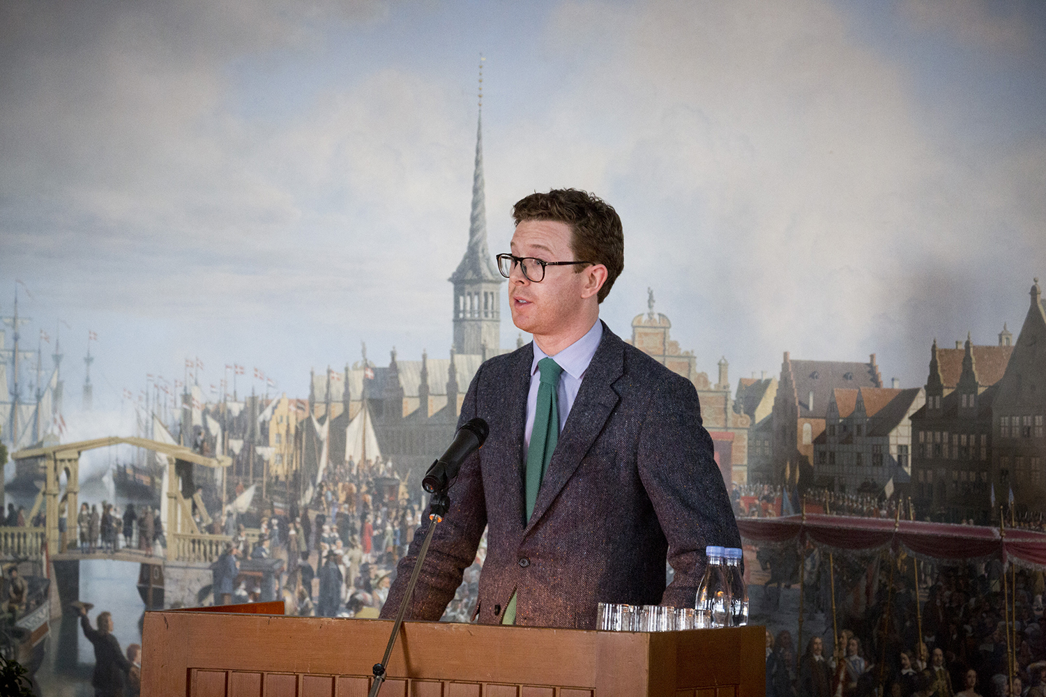 Nicholas Cullinan, Director of the National Portrait Gallery, London, gives a speech