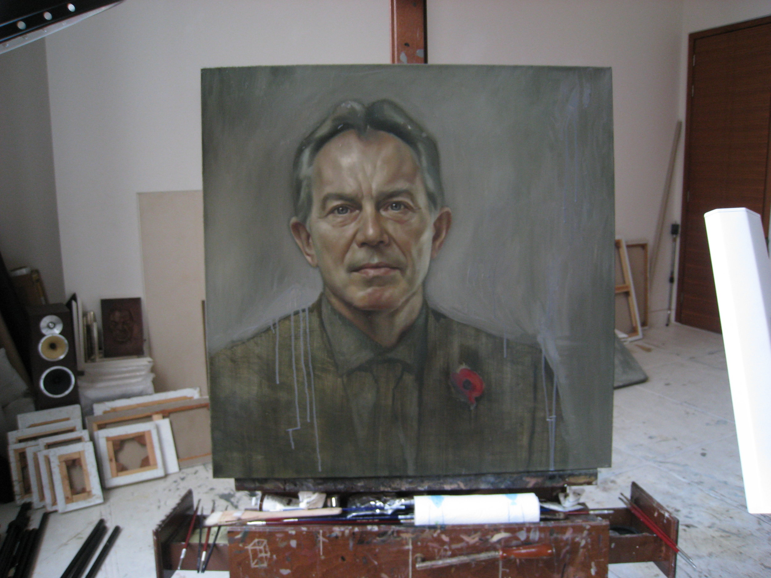 Tony Blair on easel.JPG