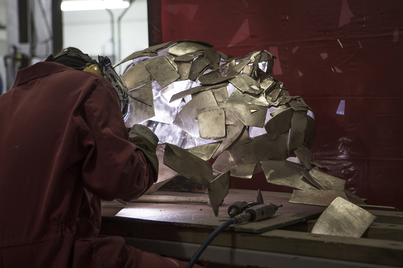 Jonathan Yeo sculpture being welded.jpg