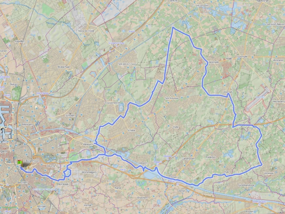 79 km - KEMPENRIT - Eén van de vaste zondagsritten (9u45).