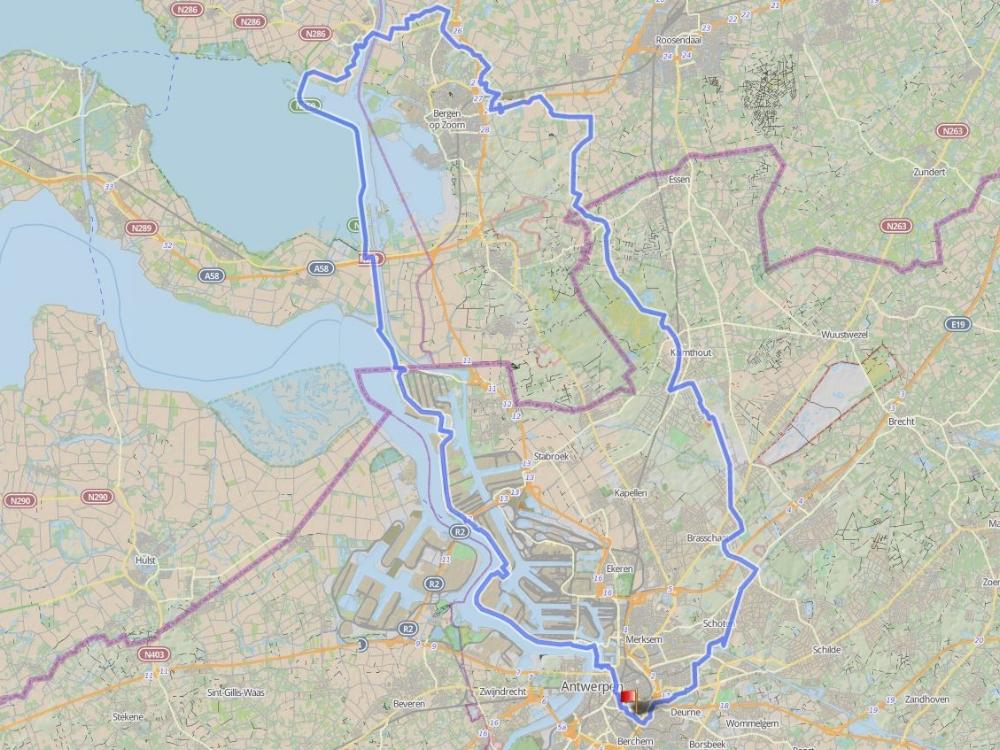 123 km - THOLEN - GROEPEN < > 15Vertrekken door een ontwakende stad, glijden langs haven en schapen, beuken op een dam, cruisen door de heide? Dat kan allemaal in één en dezelfde rit...