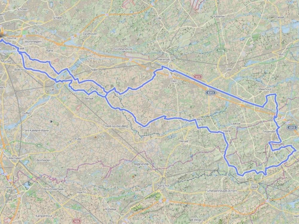 154 km - 3 PROVINCIËN - GROEPEN < > 15