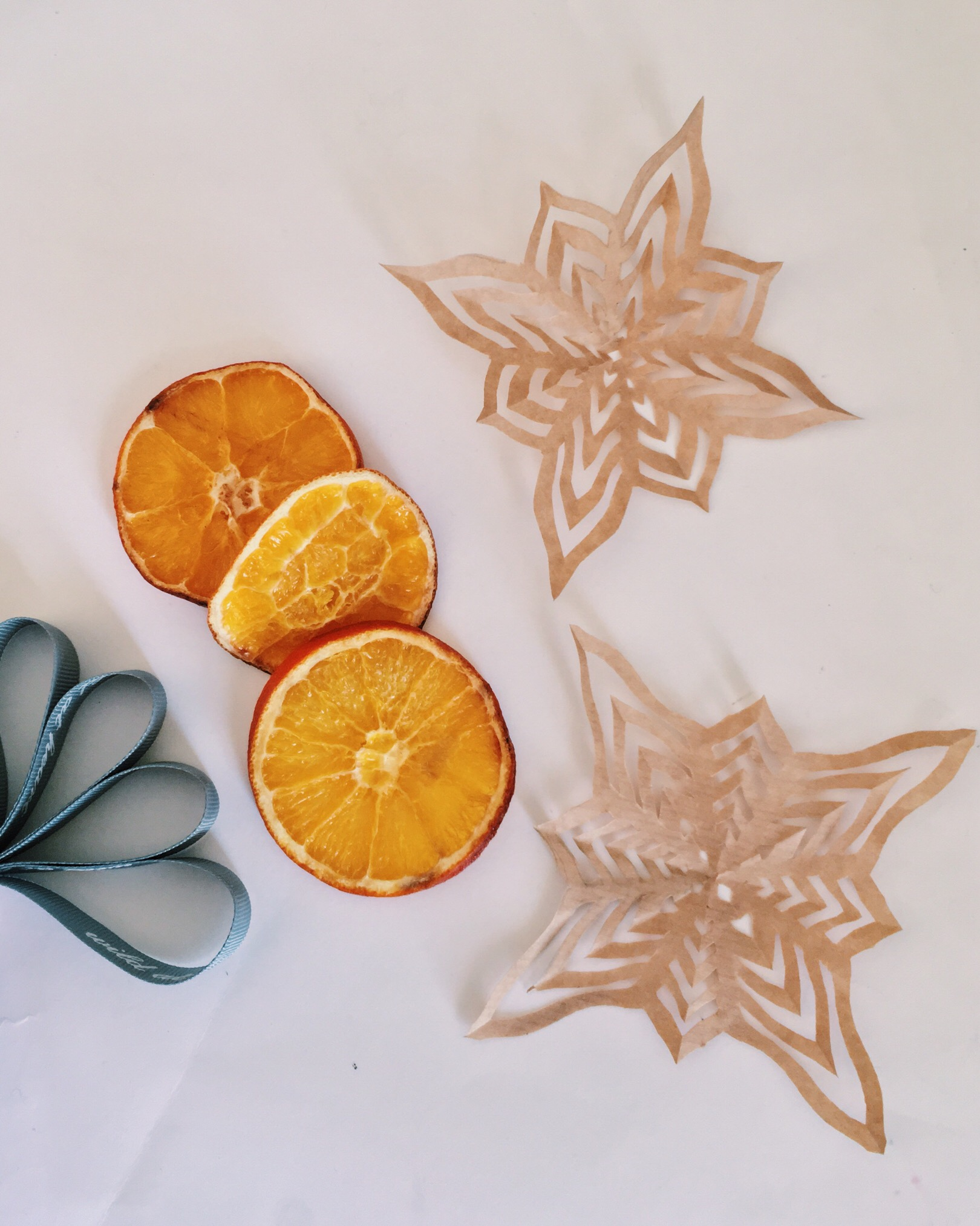 Paper Snowflakes Dried Oranges