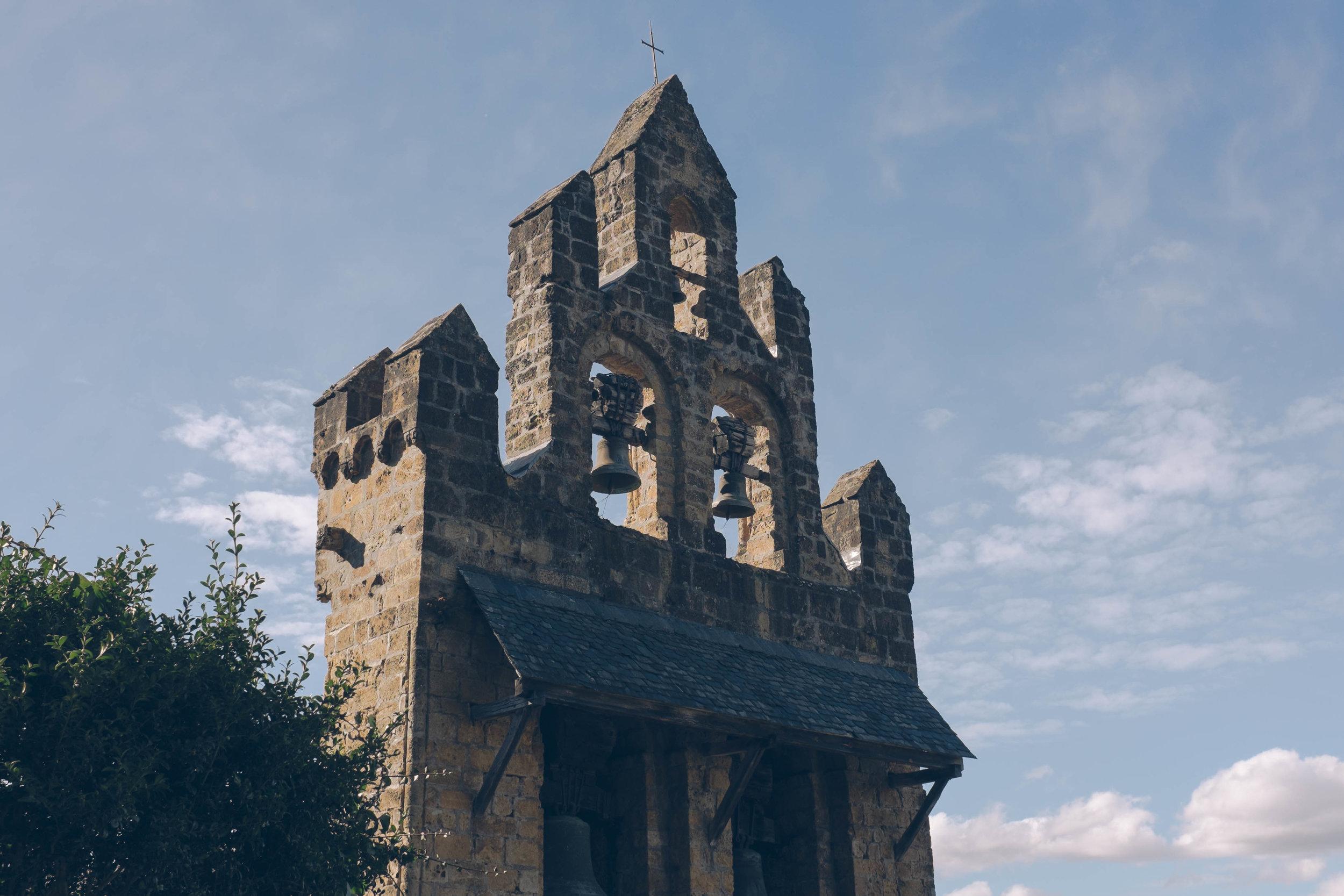 Church along the walk to castillon-en-couserans