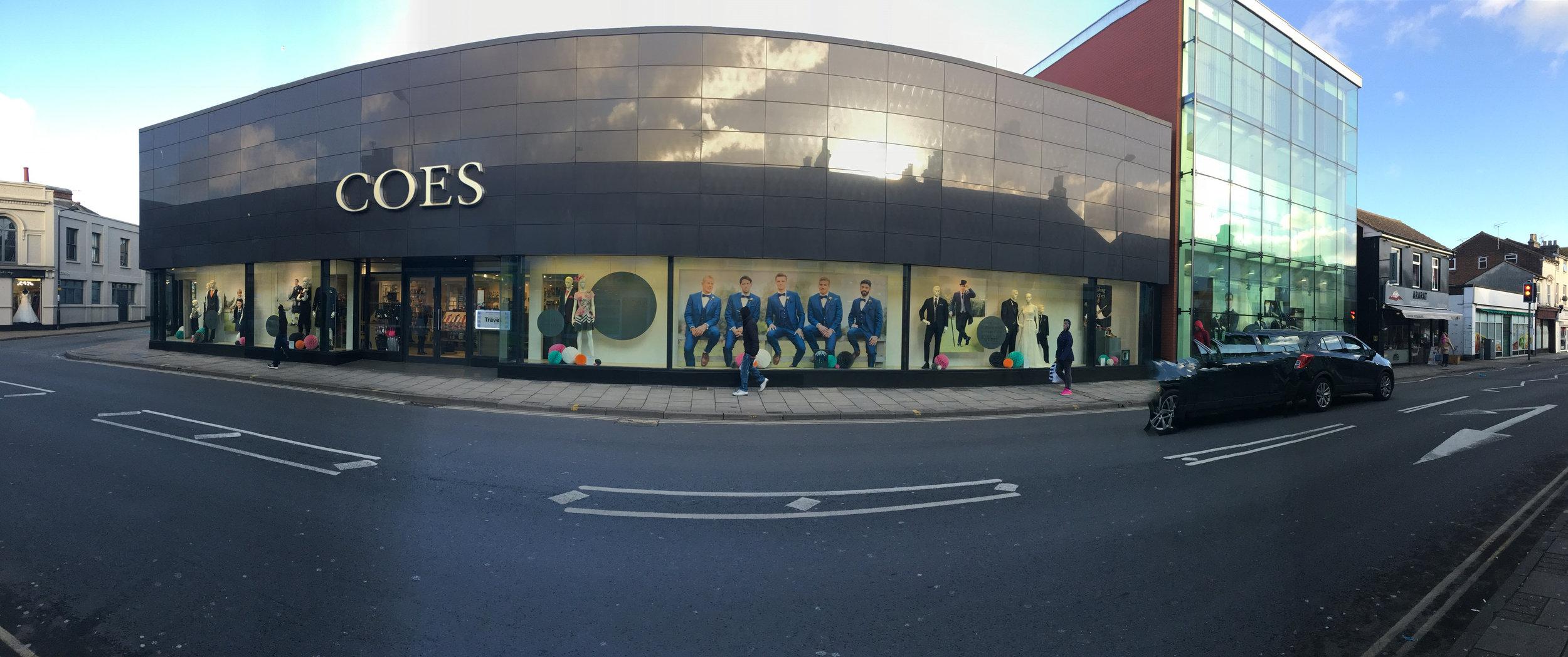 Coes Window display, Ipswich