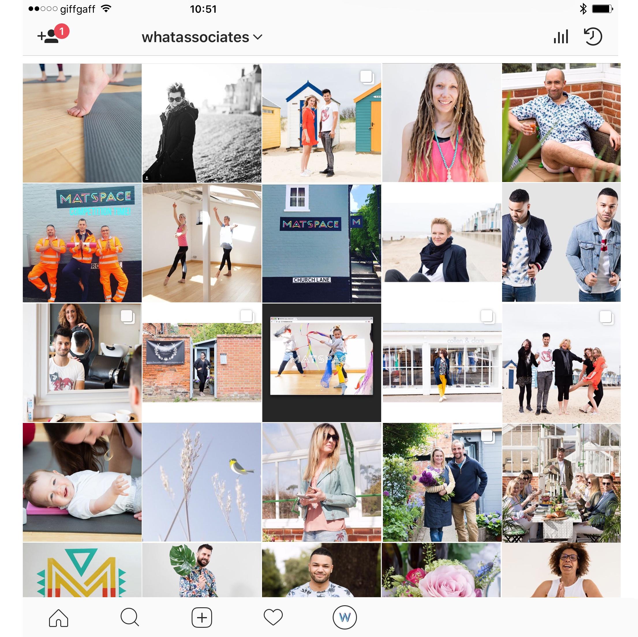 Instagram WHAT associates