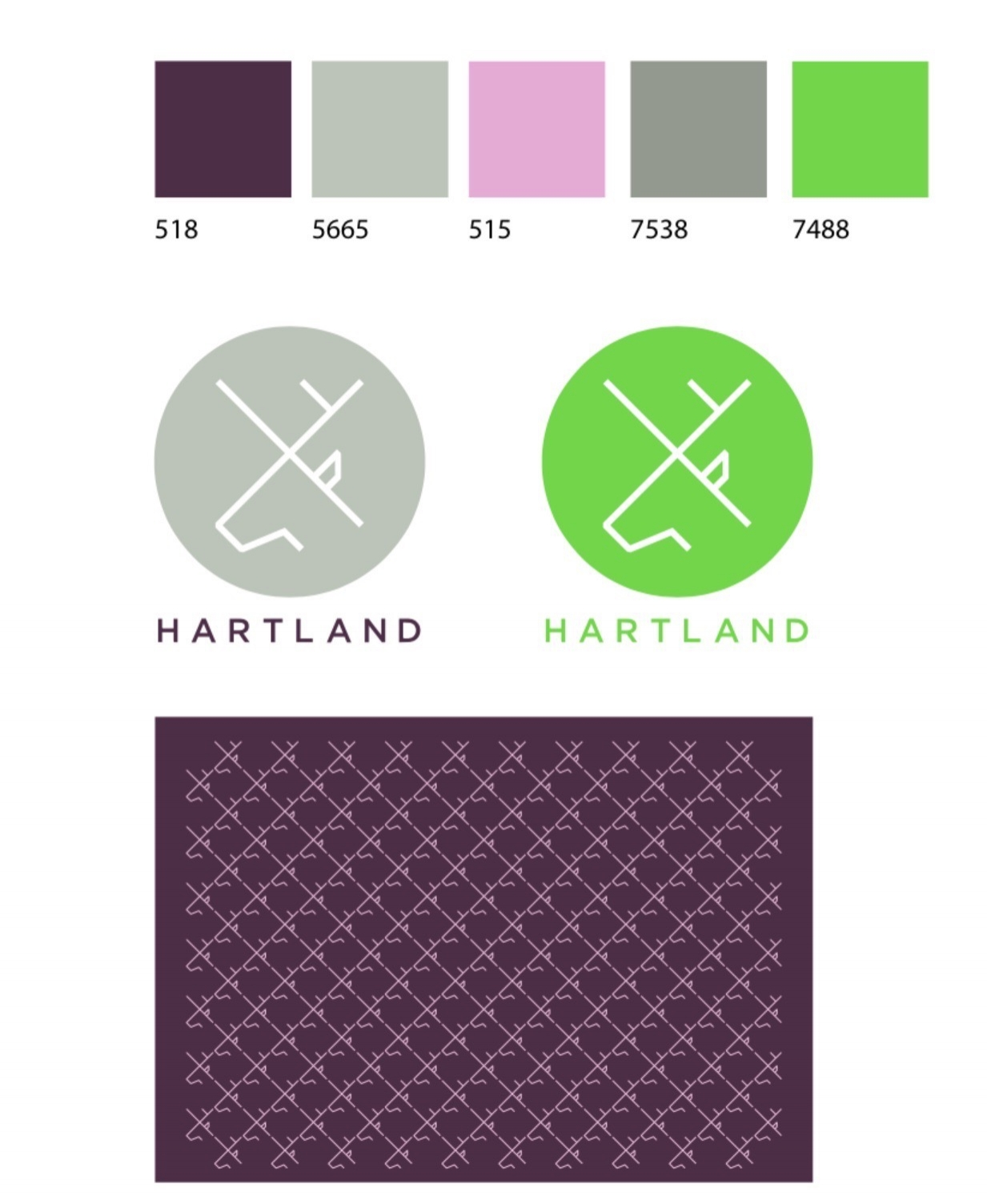 BRAND IDENTITY VREATED BY WHAT ASSOCIATES FOR HARTLAND COMMUNICATIONS