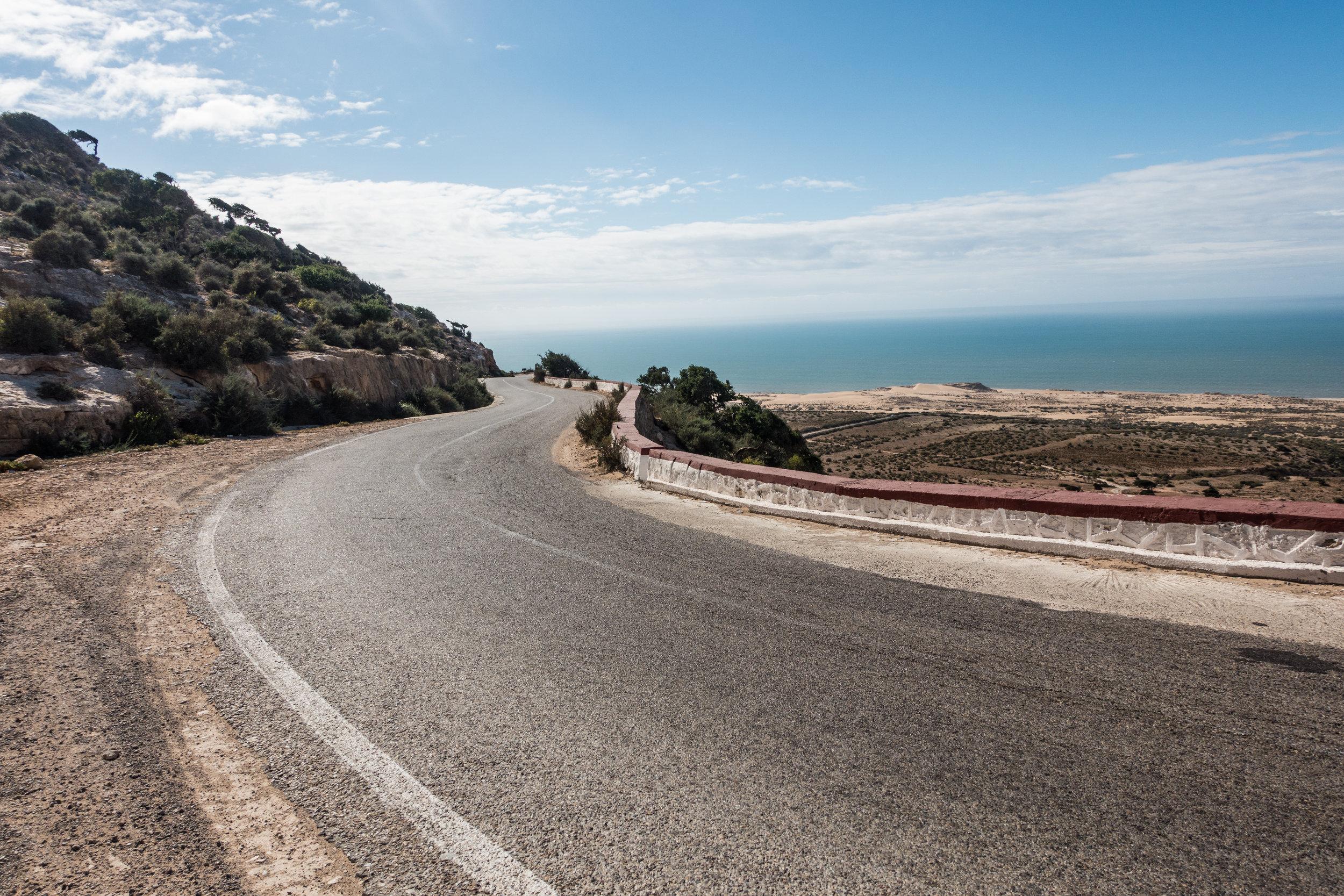 En route to Essaouria where the Atlas Mountains meet the Atlantic coast.