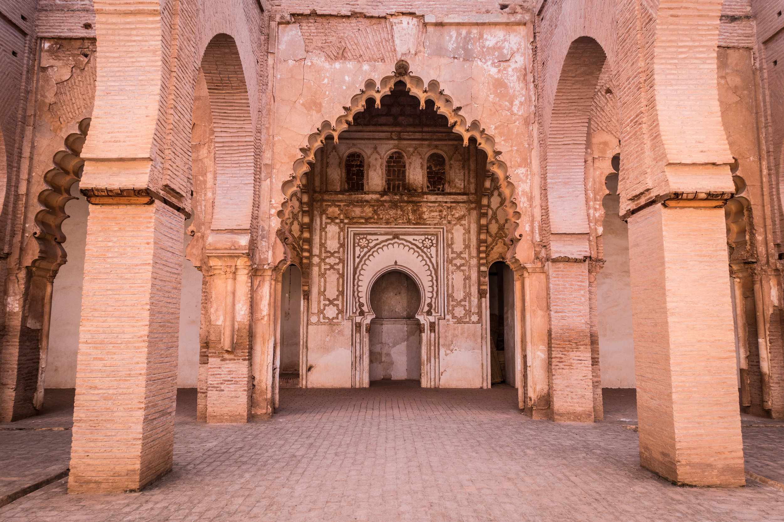 The Tin Mal Mosque, now-defunct, is okay to photograph. Operational mosques are not.