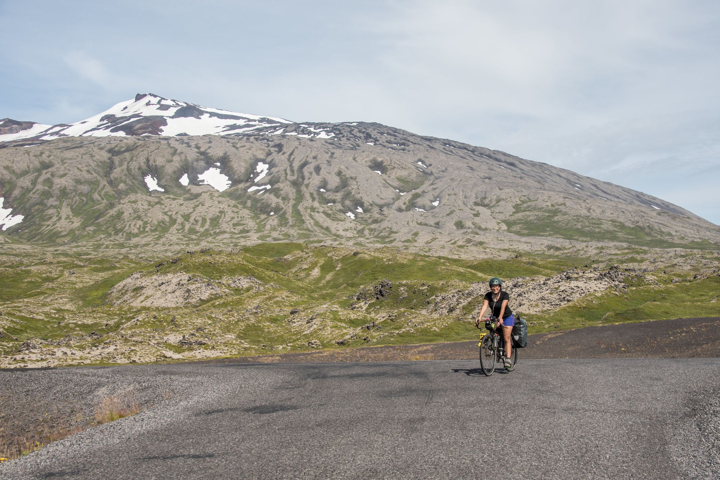 Rounding the Snæfellsjökull stratovolcano on the edge of Iceland's   Snæfellsnes peninsula.