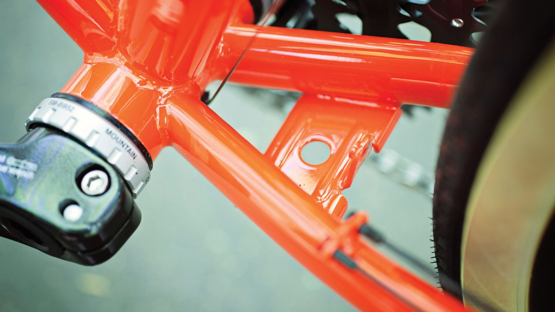 A kickstand plate: not essential, but really nice to have. Photo credit: Salsa Cycles.