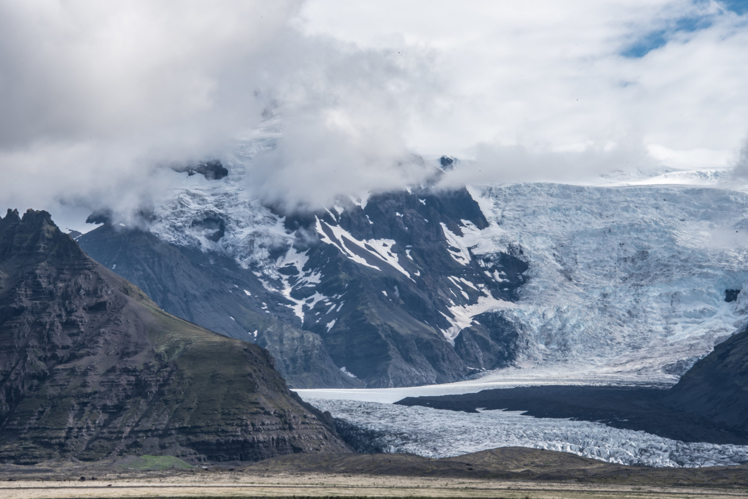 Approaching Skaftafell National Park in southern Iceland.