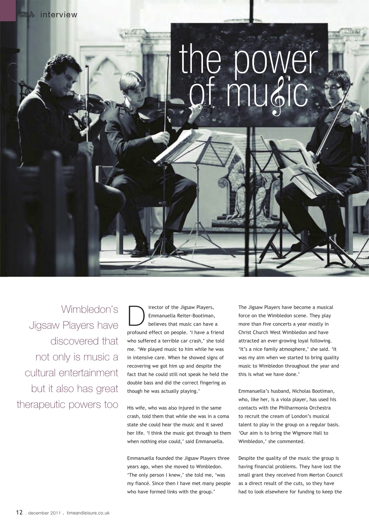 'Jigsaw Players' Time & Leisure, Dec 2011, pp 12-13.jpg