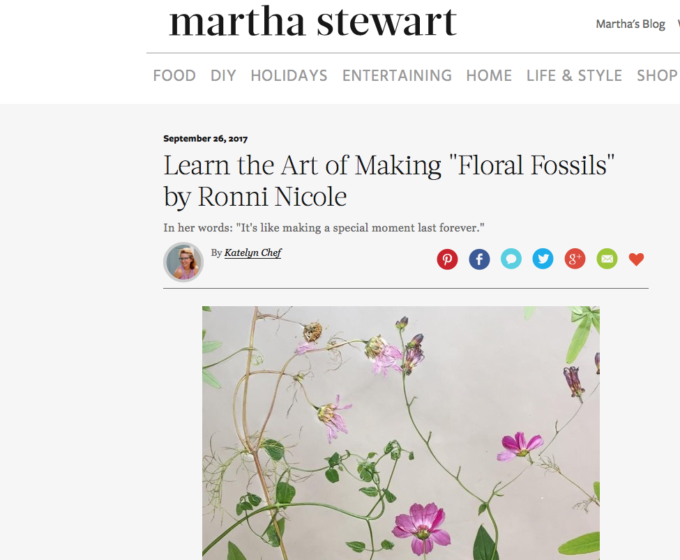 """Learn the Art of Making """"Floral Fossils"""" by Ronni Nicole.PNG"""