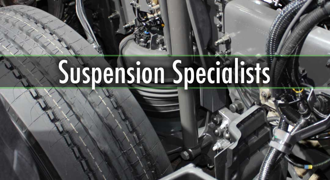 SUSPENSION SERVICES  Complete Suspension Maintenance & Overhauls Leaf Spring Repairs and Replacement Air-Ride Installations & Maintenance Walking Beam Bushing Maintenance Pin & Bushing Replacement