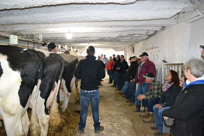 Farm meeting, such as this one of the Lambton County Holstein Breeders Club, is a great way to get together and learn about the latest advances in dairy management!