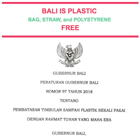 Our partners Bye Bye Plastic Bags celebrate the ban on plastic bags, straws and polystyrene as Bali Government becomes the first Indonesian province to do so. (Source Instagram @   byebyeplasticbags   )