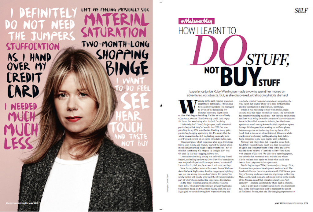 The cult of stuffocation,  Red Magazine
