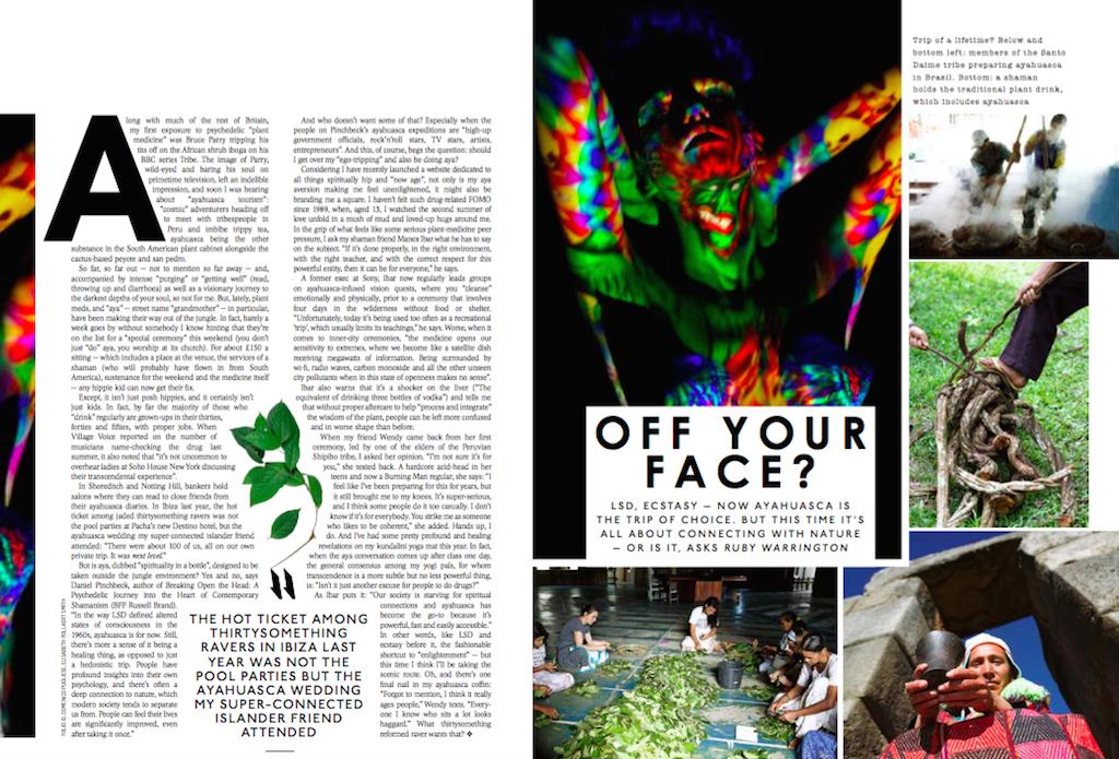 Plant medicine peer pressure,  Sunday Times Style
