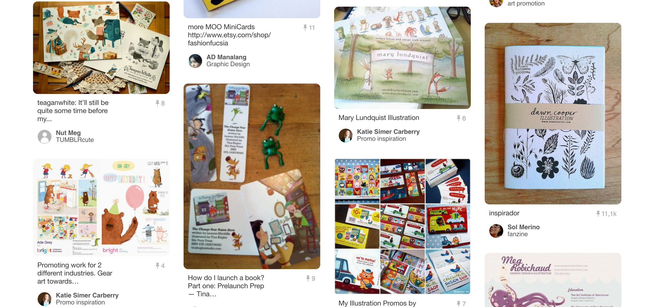 Some of the examples I found on Pinterest.
