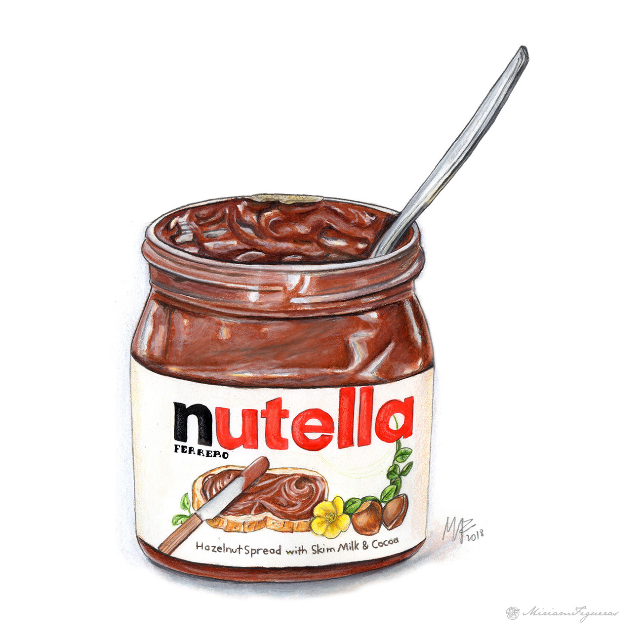 Nutella Jar Illustration
