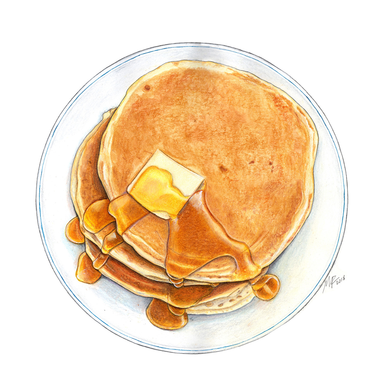 Pancakes Illustration
